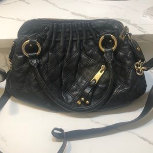 Marc Jacobs black crossbody with gold hardware